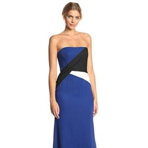 BCBGMAXAZRIA Women's Audrianna Strapless Blue
